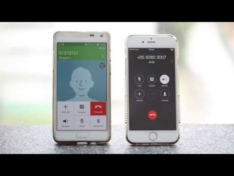 On iPhone : Activate Smart Dialer - outgoing calls with home