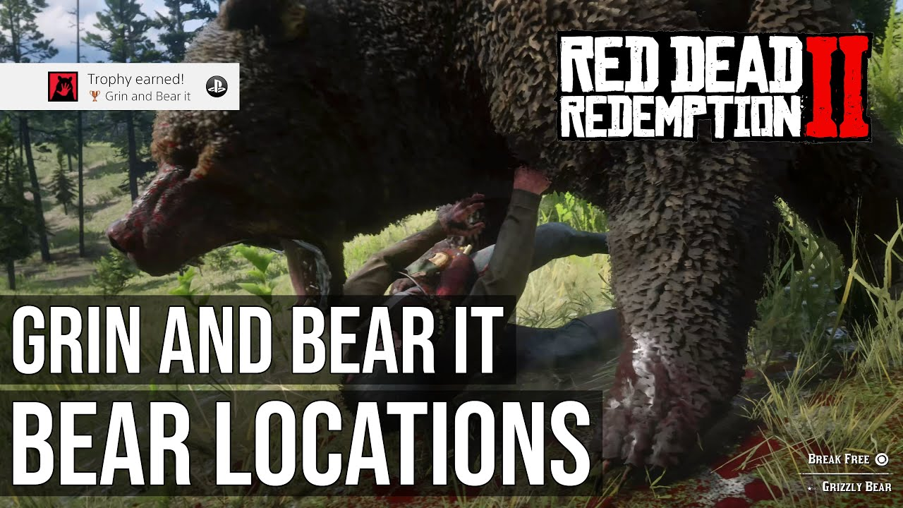 Grizzly Bear Locations Grin And Bear It Trophy Red Dead