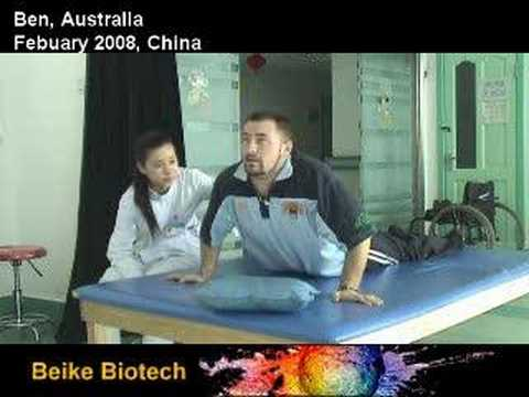 Ben doing physical therapy in China, Spinal Cord Injury
