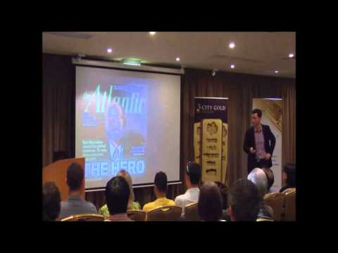 Jordan Eliseo at City Gold Bullion's Investment Seminar