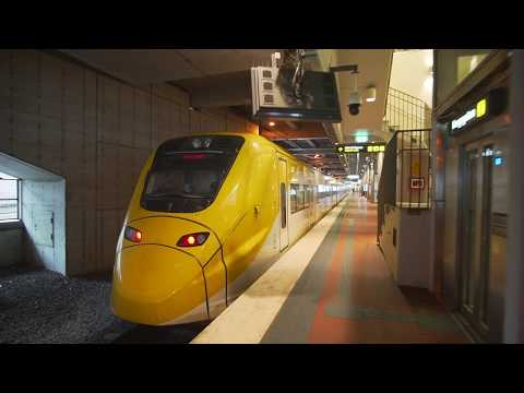 Sweden, Stockholm, ride with Arlanda Express to Arlanda Airport Terminal 5