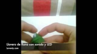 Rana llavero con sonido de una rana y luz LED