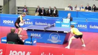 Table Tennis - Ruwen Filus vs. Fabian Akerström (2011-01-04, Cottbus)