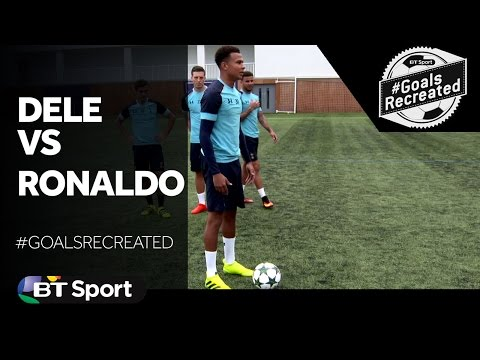 Dele Alli recreates Ronaldo's free-kick v Portsmouth | #GoalsRecreated