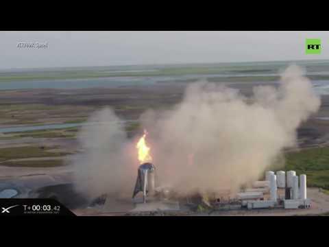 Космический корабль SpaceX загорелся во время запуска