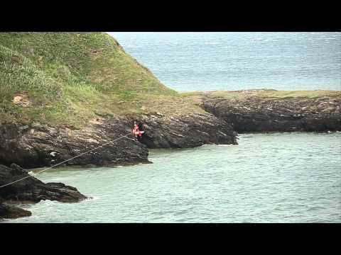 Irish Coast Guard Rescue Four People in Silver Strand Beach Wicklow