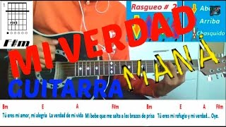 (Como Tocar) Tutorial Guitarra Mi Verdad Maná ft. Shakira Intro + Acordes TuGuitarraTV alexism93