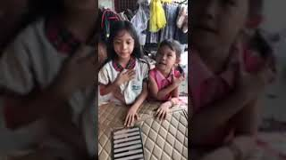 Car floor mat promotion by 2 sister