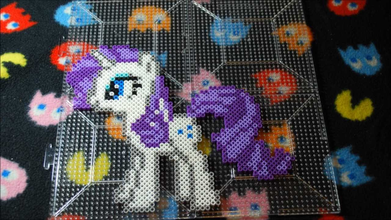 Mlp Rarity Perler Bead Stop Motion Youtube