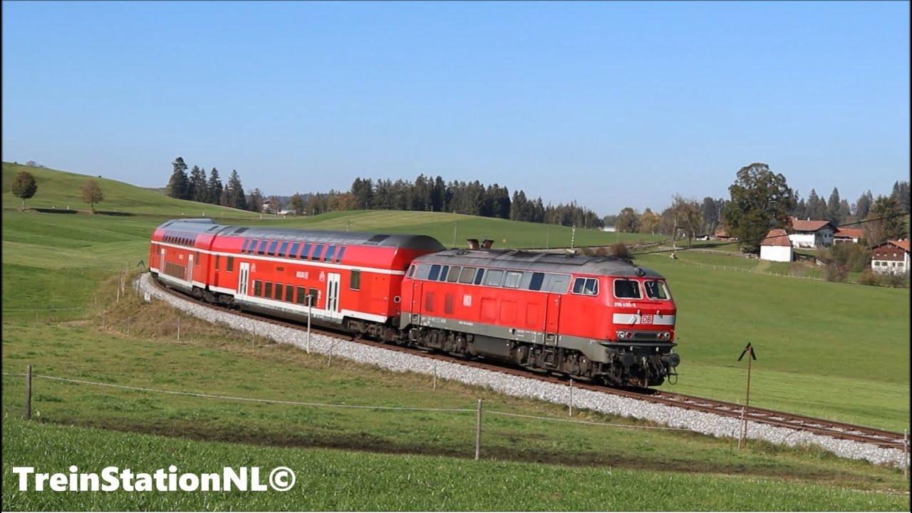 DB 218 496 met 4 dosto's op de König Ludwig bahn