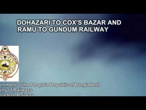 Dhaka to Chittagong to Cox bazar  railway