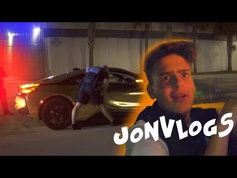 We got PULLED OVER 5X's trying to film this! ft. JonVlogs