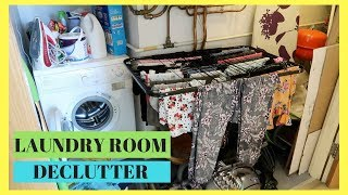 LAUNDRY ROOM DECLUTTER || WHOLE HOUSE DECLUTTER || WEEK 2