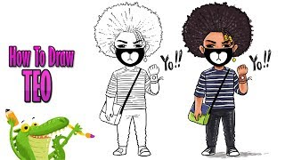 how to draw ayo & teo | teo drawing