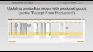How to manage your released production orders in SAP