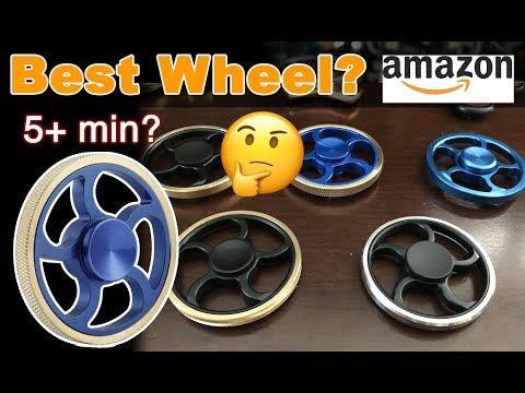 Best 5+ min wheel & metal flywheel fidget spinner review on amazon + Giveaway! #62