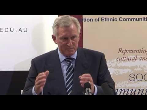 Dr John Hewson: Multiculturalism - success or failure? At ANU, March 2011