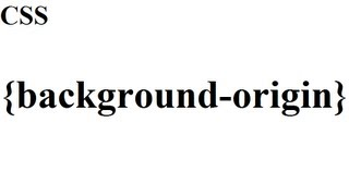 CSS how to: background origin