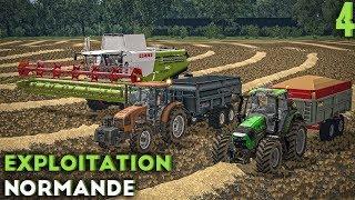 Farming Simulator 17 - Exploitation Normande - Machine à palettes et moisson ! (#4)