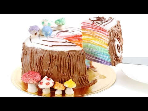 rainbow-log-mille-crêpe-cake-mille-crepes-diy-rainbow-treats-무지개-크레이프-케이크