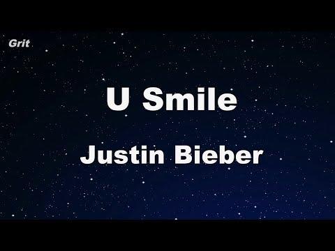 U Smile  Justin Bieber Karaoke 【No Guide Melody】 Instrumental