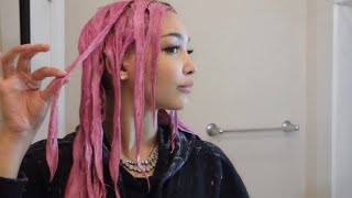 DYING MY HAIR PINK   arctic fox virgin pink