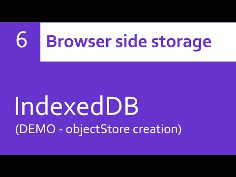 IndexedDB - objectStore creation (DEMO)