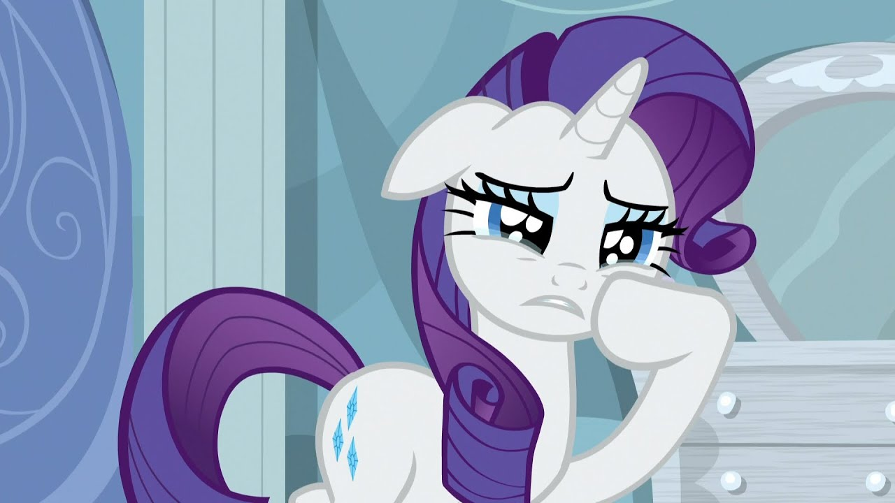 Rarity - I can't bear to see Fluttershy cry! - YouTube