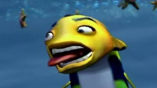 Shark Tale All Fail Cutscenes | Game Over | All Deaths (PS2, GCN)