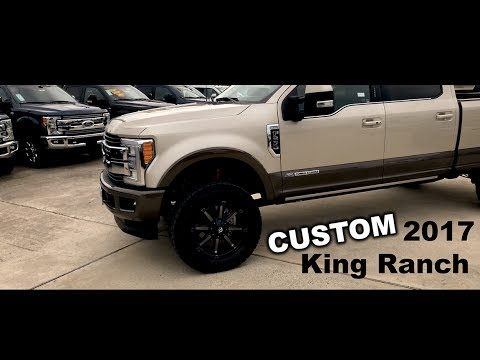 Ford F250 Rims >> 2017 Lifted Ford F-250 King Ranch Custom Wheels And Tires - YouTube