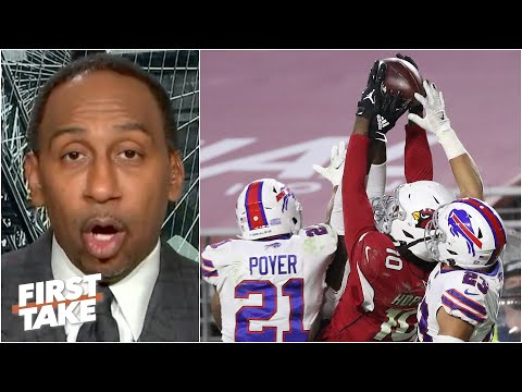 Stephen A. reacts to DeAndre Hopkins' game-winning Hail Mary touchdown vs. the Bills | First Take