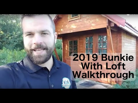 2019 Bunkie With Loft Walkthrough - Bunkie Life Cabin Kits