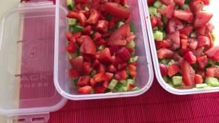 Заготовки для салата для экономии времени