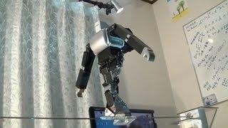 二足歩行ロボットに綱渡りをさせてみた( I tried to let the biped robot walk a tightrope.)