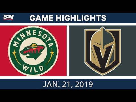 NHL Highlights | Wild vs. Golden Knights - Jan. 21, 2019