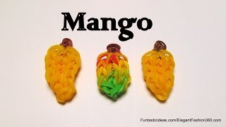 Rainbow Loom Mango Fruit Charm - How To - Food Series