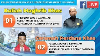 🔴 Live Stream 07/02/2020 : Kuliah Kalam Murabbi Ustaz Azhar Idrus & Ustadz Dr. Abdul Somad