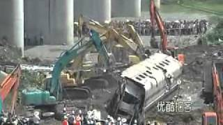 铁道部毁尸灭迹 - China crushed bullet train wreckage and buried on site