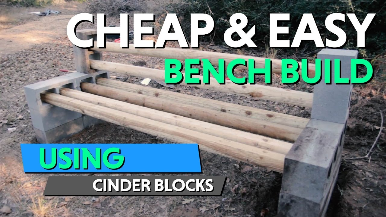 Design Cinder Block Bench how to built this diy cinder block bench for our future homestead homestead