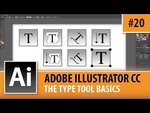 Adobe Illustrator CC 2015 - The Type Tool - Episode #20