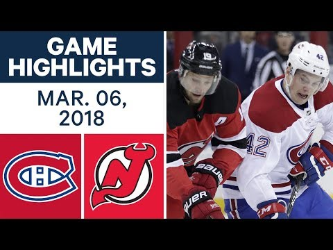 NHL Game Highlights | Canadiens vs. Devils - Mar. 06, 2018