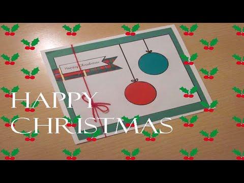 Arte con clase navidad tarjeta scrap para ni os youtube - Postales de navidad para hacer con ninos ...