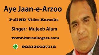 Aye jan e arzoo video karaoke with lyrics