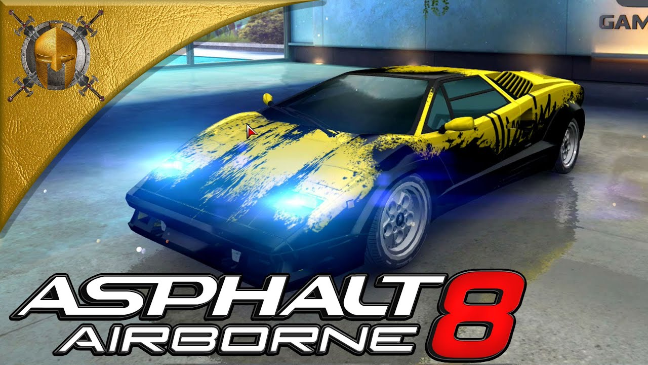 asphalt 8 airborne pc alps lamborghini countach 25th anniversary gamep. Black Bedroom Furniture Sets. Home Design Ideas