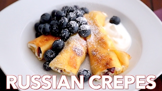 Breakfast: Russian Crepes With Cheese (nalesniki) - Natashas Kitchen
