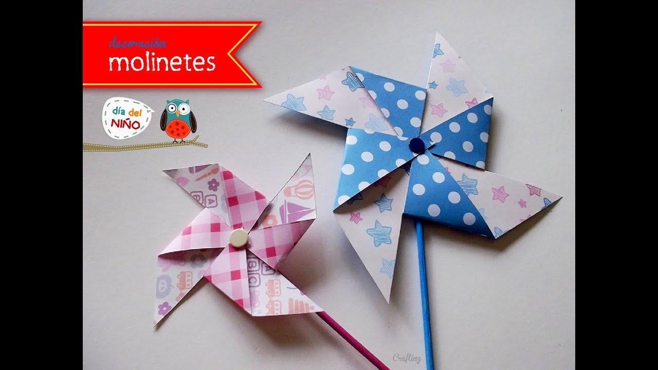 Molinete de papel manualidades con ni os youtube - Manualidades para ninos con papel ...