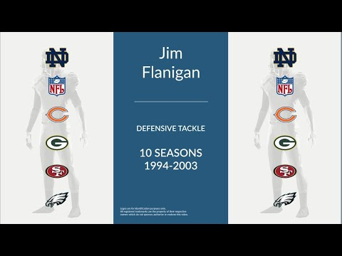 Jim Flanigan: Football Defensive Tackle