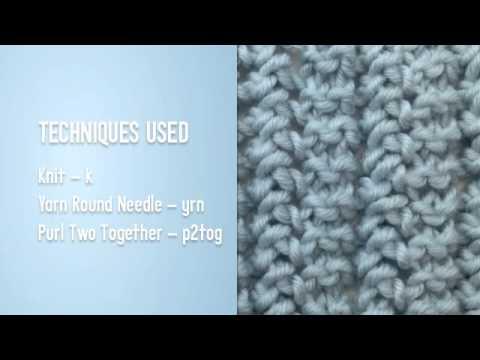 How To Knit The Simple Garter Lace Stitch English Stitch Youtube