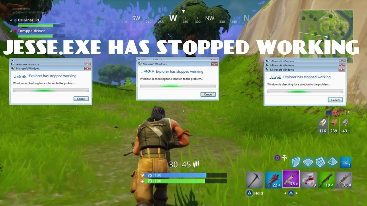 Jesse.exe has stopped working |Fortnite| - YouTube