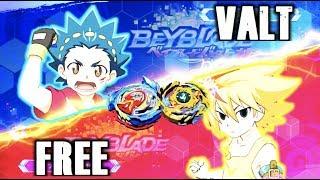 Valt Vs Free in The Beyblade Burst Battle Zero Game! | Nintendo Switch
